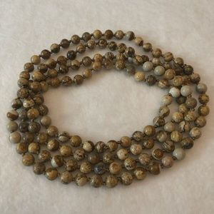 "Jewelry - NWOT | 29"" Long Natural Stoned Vintage Necklace"